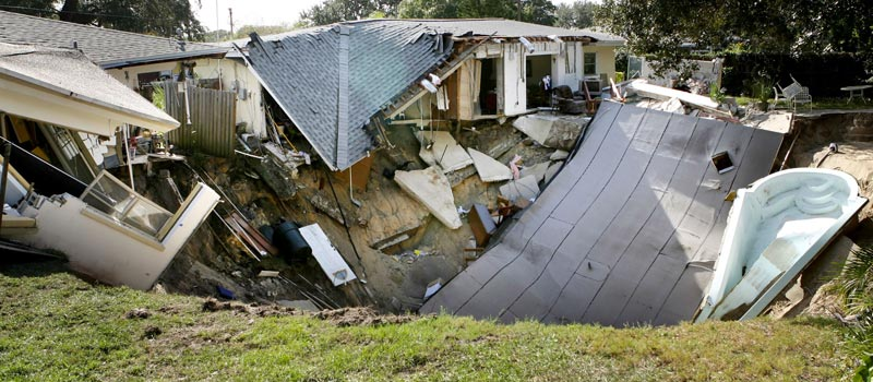 House Destroyed in Sinkhole