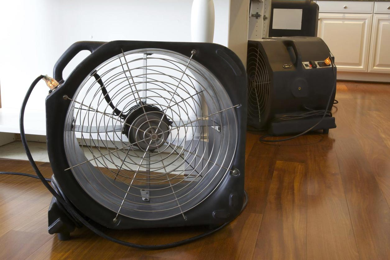 Industrial Fans to Dry Flood Damage