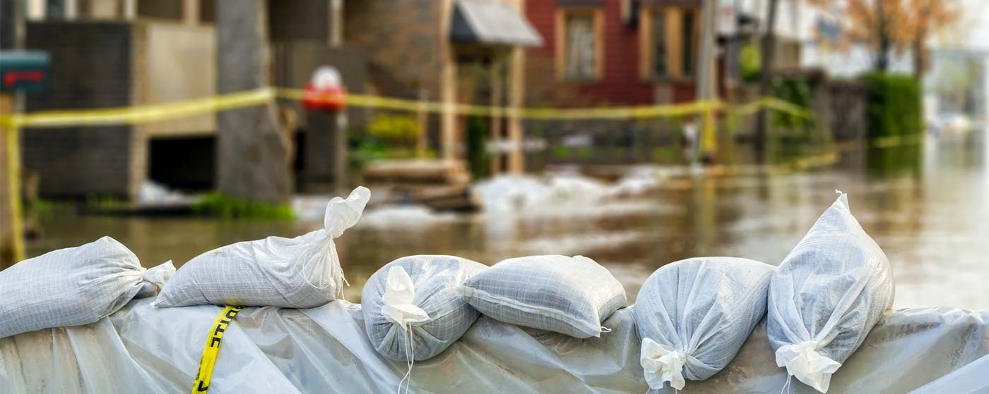 Sandbags to Protect From Flooding